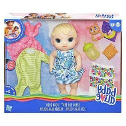 """Baby Alive Doll Ready for Bed Blonde Caucasian 11"""" Outfit Pa"""