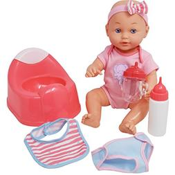 Drink and Wet Baby Doll, With Training Potty, 2 Bottles, Dia