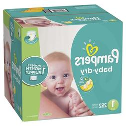 *NEW* Pampers Baby Dry Diapers Size 1, 252 Count ***LOWEST P