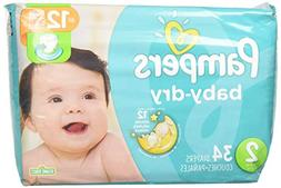 Pampers Baby Dry Diapers, Size 2, 34 Count