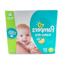 Pampers Baby Dry Disposable Baby Diapers, Size 1, 252 Count,