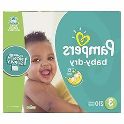 Pampers Baby Dry Disposable Baby Diapers, Size 3, 210 Count,