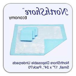 NorthShore Economy, 17 x 24, 6 oz, Blue Disposable Underpads