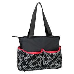 Baby Essentials 5-in-1 Diaper Bag - Black/white