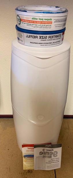 Diaper Genie Essentials Diaper Disposal Pail with 2 X Starte