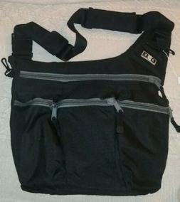 EUC Diaper Dude Black Messenger Diaper Bag for Dads - Black