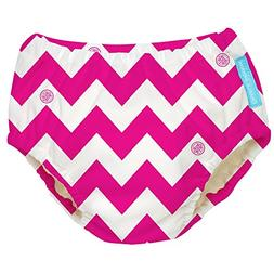 Charlie Banana Extraordinary Swim Diaper, Hot Pink Chevron,