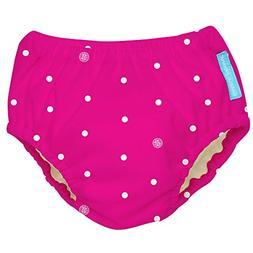Charlie Banana Extraordinary Swim Diaper, White Polka Dots H