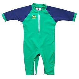 Nozone Fiji Sun Protective Baby Boy Swimsuit in Green/Navy,