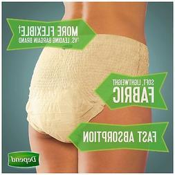 Depend FIT-FLEX Incontinence Underwear for Women, Maximum Ab