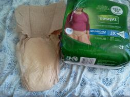 Depend FIT-FLEX Underwear for Women. Size xl. 15 diaper in a