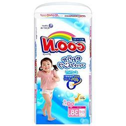 Elleair GOO.N 38 Sheets Fit Pants for Big Girl, Soft Goon