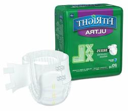 FitRight Ultra Adult Diapers Disposable Incontinence Briefs