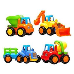 Friction Powered Cars Push and Go Toys Car Construction Vehi