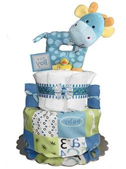 Giraffe Diaper Cake - Baby Shower Gift - Newborn Centerpiece