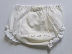 Girls BOUTIQUE ivory cotton diaper cover 0-3 2T NEW eyelet l