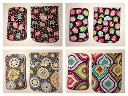 GIRLS Diaper Pouch & Matching Wipes Case. Customize yourself