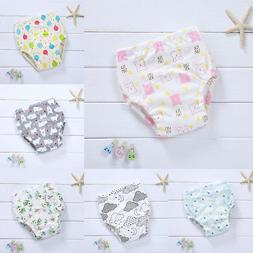 HA_Baby Girl Boy Cotton Underwear Toilet Potty Training Clot