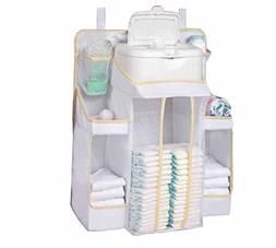 Hanging Diaper Caddy Nursery Organizer Storage Bag for Baby.