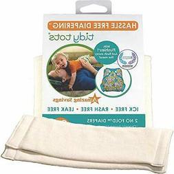 Tidy Tots Diapers Hassle Free 4-layer Organic Hemp No Fold D