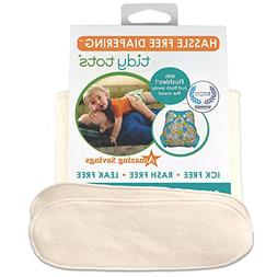 Tidy Tots Diapers Hassle Free 4-layer Organic Hemp Booster 2