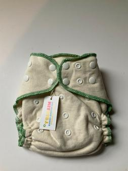 MiaBaby Hemp Cotton Fitted Cloth Diaper green one size day o