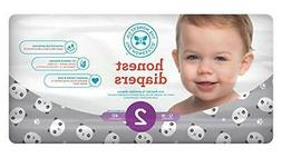 Honest Baby Diapers, Pandas, Size 2, 40 Count