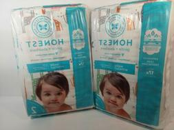 Honest Co. Diapers Size 2, 12-18 Lbs, 2 Packages 64 Count Gi