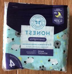 2 PACKAGES of Honest Overnight Sleepy Sheep Baby Diapers, Si
