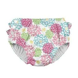 i play. Baby and Toddler Girls Ruffle Snap Reusable Absorben