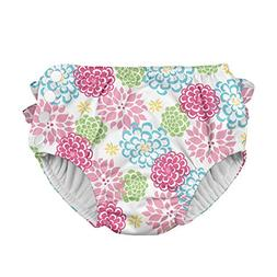 i play. Baby Girls' Ruffle Snap Reusable Absorbent Swim Diap