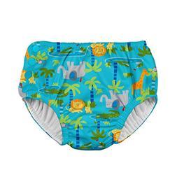i play. Boys Snap Reusable Absorbent Swimsuit Diaper, Aqua J