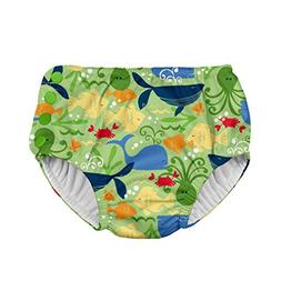 i play. Boys Snap Reusable Absorbent Swimsuit Diaper, Green