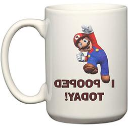 BeeGeeTees I Pooped Today! Super Hero Mario Inspired Funny C