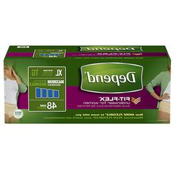 Depend Incontinence Underwear for Women, Maximum Absorbency,