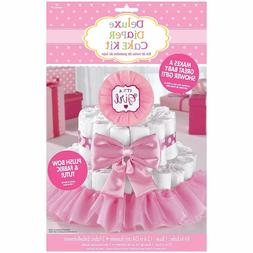 It's a Girl Baby Shower Diaper Cake Kit - Great for Baby Sho