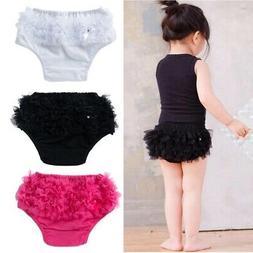 Kids Baby Girls Newborns Lace Ruffle Pants Shorts Bloomers D