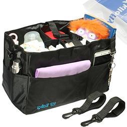 kilofly 2-in-1 Baby Diaper Bag Insert Stroller Organizer + 2