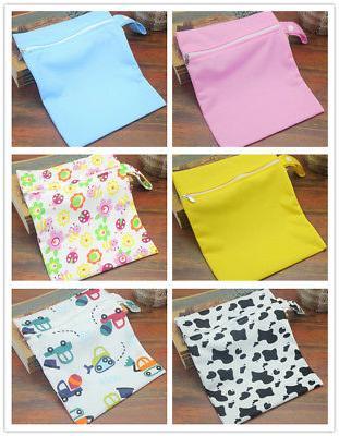 1pc waterproof zipper baby kids cloth nappy