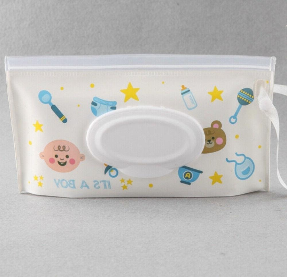 6 Pack Portable Wipes Pouch Baby