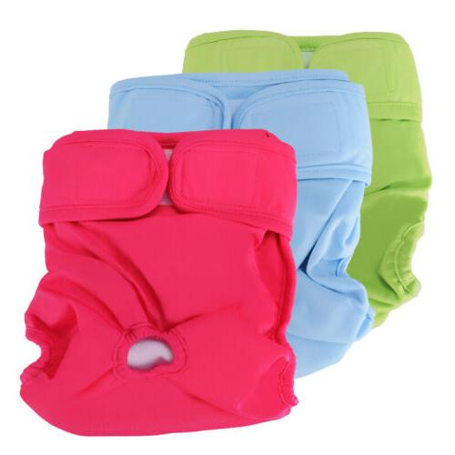 3 PCS Reusable Washable Dog Diapers Dog Wraps for both Male
