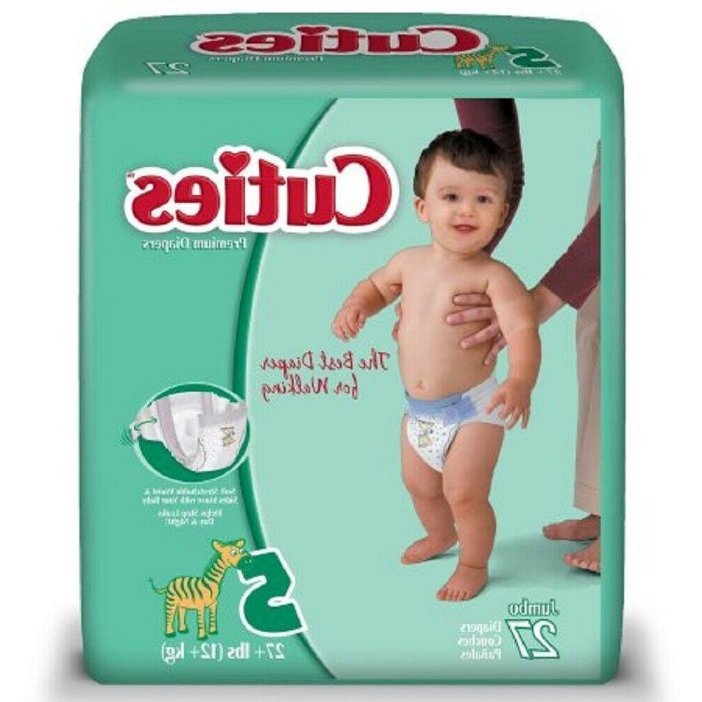 Cuties Premium Baby Diapers, Size 5, Case/108