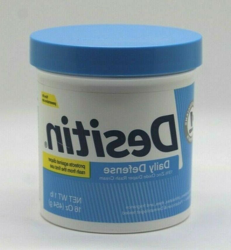 Desitin Zinc Oxide Diaper Rash Rapid Relief Cream, 16 Ounce