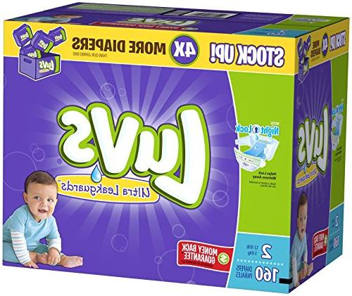 Luvs Ultra Leakguards Diapers - Size 2-160 ct