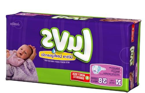 Luvs With Ultra Leakguards Jumbo Pack Size Newborn Diapers 3
