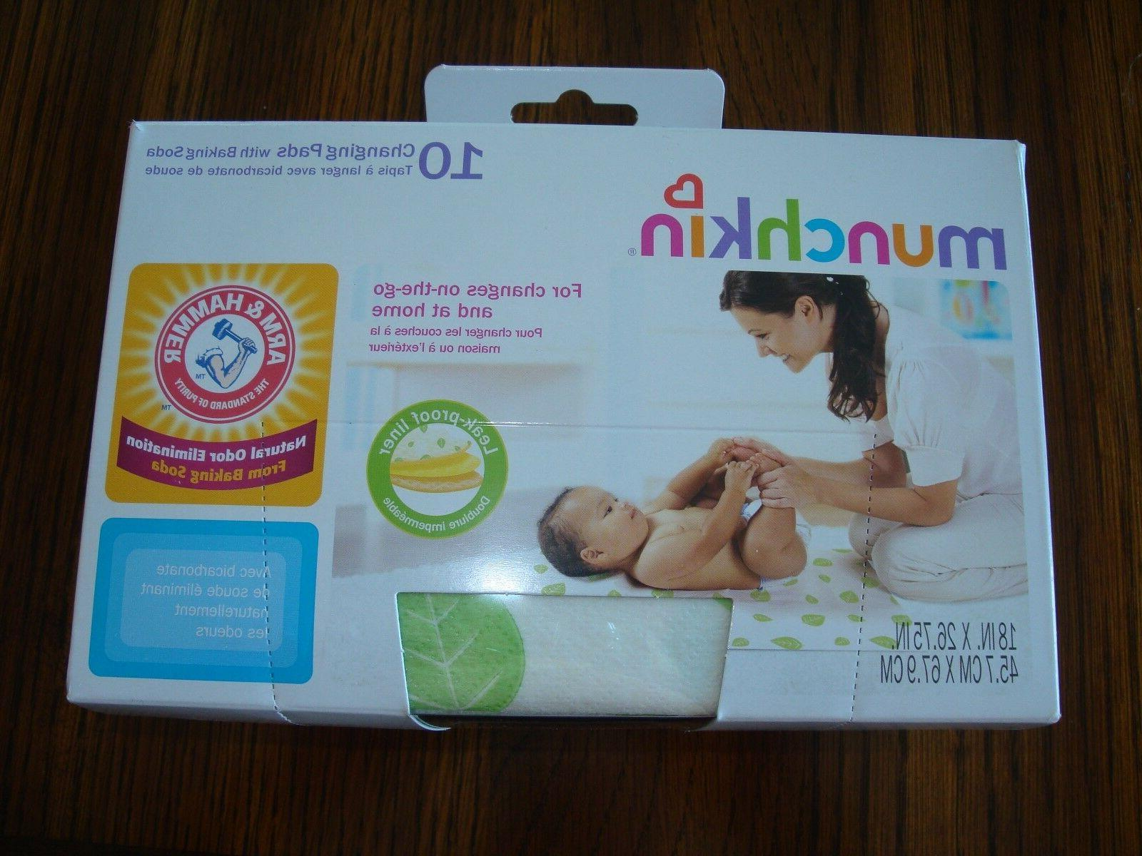 """Munchkin Disposable Changing Pads 18"""" X 26.75"""" -10 Each"""