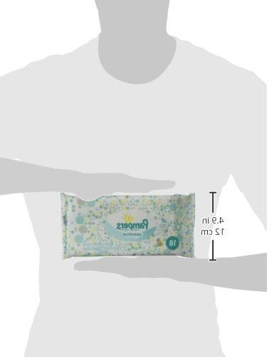 Pampers Sensitive Baby Wipes Travel Pack - 18ct