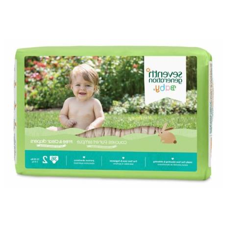 Seventh Generation - Free and Clear Baby Diapers Stage 2  -