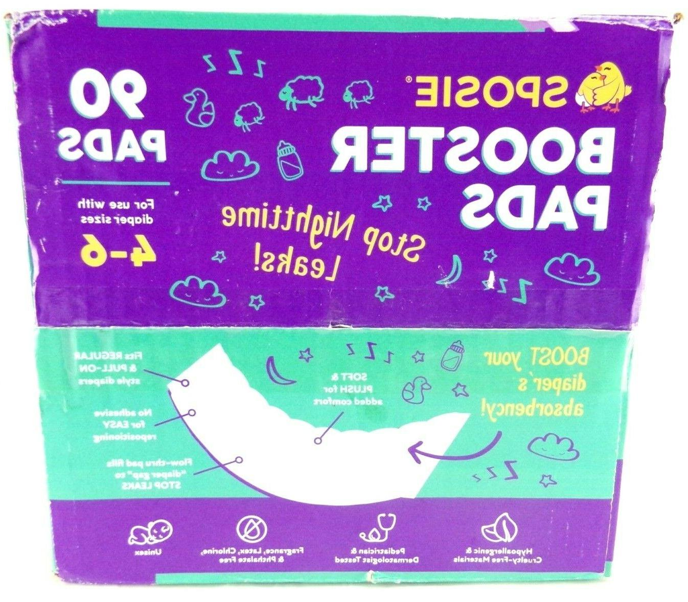Sposie Booster Pads Diaper Doubler, 90 Count, 3 Packs of 30