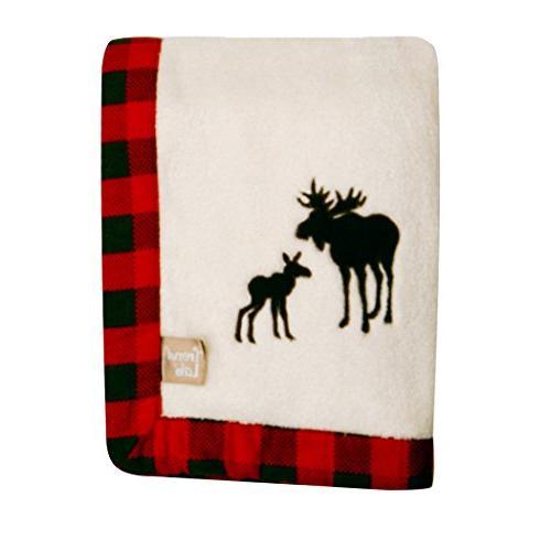 Trend Lab Northwoods Framed Receiving Blanket, Moose Appliqu